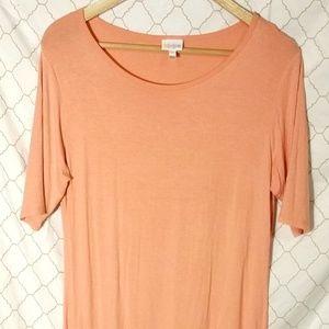 LuLaRoe Julia Dress Salmon Peach Orange Midi Soft